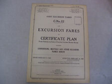 Feb. 9, 1925 Joint Excursion Tariff Certificate Plan Conventions, Meetings, etc