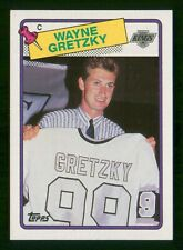 WAYNE GRETZKY SWEATER 1988-89 TOPPS 88-89 NO 120 EX+  34716