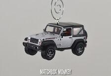 2013 10th Anniversary Jeep Wrangler Rubicon X Soft Top Christmas Ornament 1/64