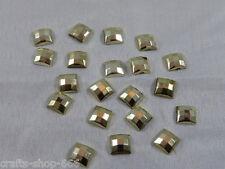 20 Glitzersteine Rhinestones 7 mm  Gold Basteln Kartengestaltung  NO hot fix
