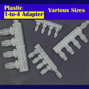 5-Way 1-to-4 Tee Plastic Hose Barb Fitting Pipe Tube Connector Splitter Adapter
