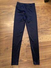 Ladies Size 8 Blue Leggings. Smart / Casual / Shiny