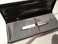 Gorgeous White Metal Jewel Ballpoint Pen In Box ideal xmas birthday gift