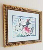 Pablo Picasso Framed Awesome Original Mourlot Lithograph 1961 Toros y Toreros