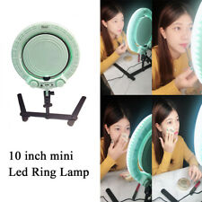 10'' QS-280II LED Ring Light Tabletop Dimmable Makeup lighting W/Cosmetic Mirror