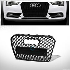 Fits 13-16 Audi A5/S5 B8.5 Matte Blk RS Honeycomb Mesh Front Bumper Grill Grille