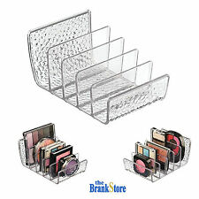 Makeup Palette Organizer Cosmetics Holder Clear Textured Plastic Cosmetic Case