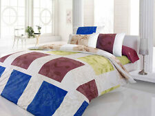 5 tlg Bettwäsche Bettgarnitur Bettbezug 100% Baumwolle Kissen 200x20 cm CONWAY