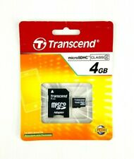 NEW Transcend 4GB Micro SD SDHC Class 2 Flash Memory Card Adapter SEALED VGD
