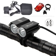 SolarStorm 6000Lm 2xCREE XM-L T6 LED Front Bicycle Lamp +12000mA Battery Pack