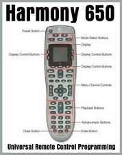Logitech Harmony 650 Universal Remote Control - Never Used!