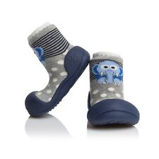 ATTIPAS ZOO NAVY ergonomic shoes kids infants non slip sole moccasins beach