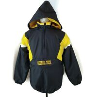 Reebok Heisman Youth XL Georgia Tech Jacket 1/4 Zip Yellow Jackets NCAA (BY)