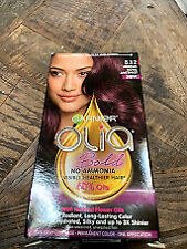 Garnier Olia Bold Ammonia Free Permanent Hair Color 5.12 Medium Royal Amethyst