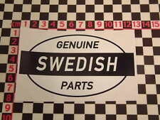 Ed Roth Style Swedish Genuine Parts Sticker -  Saab 99 96 900 Volvo P1800 Amazon