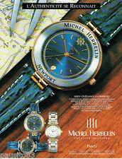 PUBLICITE ADVERTISING 125  1993  MICHEL HERBELIN montre NEWPORT