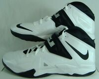 New Mens 18 Nike Zoom Soldier VII TB Lebron White Black Hi Shoes $145 599263-100