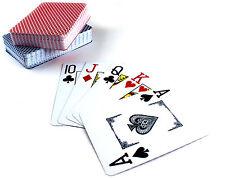 2x Pokerkarten, Spielkarten - 100% PLASTIK - NEU - Jumbo Index