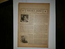 Ed Strangler Lewis Eddie McGoorty Wrestling 1930 The Arena Sheet RARE!