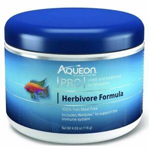 Aqueon Pro Herbivore Formula Pellet Food 4.09oz Jar CLOSEOUT