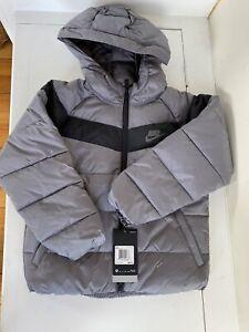 Nike Boys Gray Coat Jacket Size 7 New $85