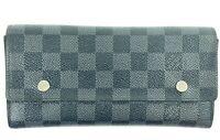 Louis Vuitton Damier Graphite Long Wallet Portefeuille Modulable Bifold 860382