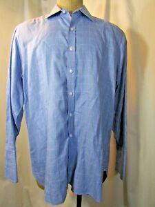 TURNBULL & ASSER 100% Cotton Button Front Long Sleeve Shirt Size 17/43