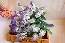 Home Decoration Party Wedding Flower 10 Heads Artifical Lavender Flowers Bouquet