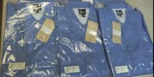 Lot of 3 Mens Short Sleeve  Blue Work Uniform Shirt - Clothes - 3XL - 2BY4