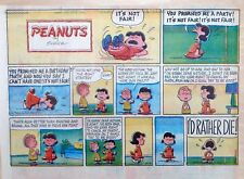 Peanuts by Charles Schulz - large half-page color Sunday comic - April 7, 1963