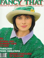 Vintage Fancy  That Crochet & Knitting Today June 1986