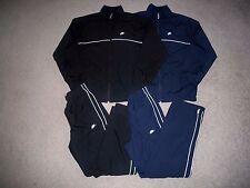 LOT of 2 Mens NIKE SPORTSWEAR Sweatsuit w/Lining S BLACK & BLUE w/NIKE Swoosh