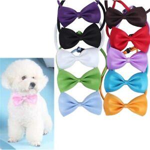 Pet Dog BowTie Suit Necktie Adjustable Cat Clothes Decor Bowknot Collar 9 Colors