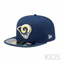 $25 NFL St. Louis Rams On Field 5950 Game Cap, Navy, 6 1/2, Youth