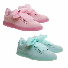 Womens Puma Suede Heart Trainers