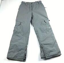 ride snowboard women cargo pants size medium light gray