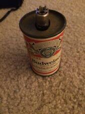 Vintage Budweiser Metal Steel Beer Can Lighter Holder