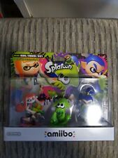 SEALED New US Splatoon Inkling Girl Boy Squid Amiibo 3-Pack USA Version