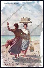 LIGURIA COSTUME 03 FOLKLORE Pittore BARON von KLEUDGEN Cartolina