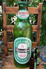 Huge 24� 1960s Vintage Plastic Heineken Beer Bottle Advertising Display-B
