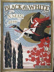 Christmas BLACK & WHITE MAGAZINE 1899 Sidney Sime Cecil Aldin DOGS CATS