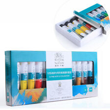 12 Colors Nail Art Tips Paint Tube Pigment Draw Painting Tool For Acrylic UV Gel