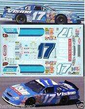 NASCAR DECAL #17 VISINE 2001 BGN MONTE CARLO MATT KENSETH-CLAY RODGERS  SLIXX