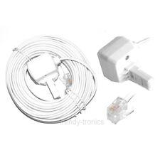 10m Bianco RJ11 per BT Home Telefono Fax Telefono Cavo di estensione Piombo
