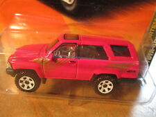 MATCHBOX RED TOYOTA 4RUNNER (White rims) SCALE 1/64 - ON LONG CARD