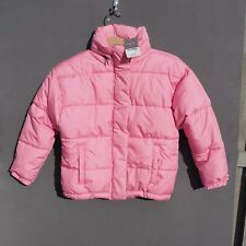BNWT NEXT Girl's Pink Puffa Jacket / Coat with Concealed Hood age 9 year RRP £28