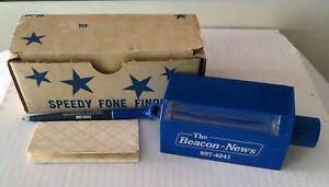 The Beacon News Aurora Illinois Promotional Pen Holder Speedy Fone Finder