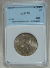 1951-D FRANKLIN HALF DOLLAR WITH FULL BELL LINES