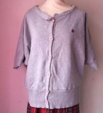 Fenchurch S Grey Baggy bat wing Jersey sweater Cardigan Jumper