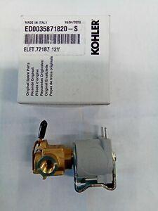 New Genuine Kohler Diesel Lombardini ED0035871820-S Fuel Shutoff Solenoid Valve